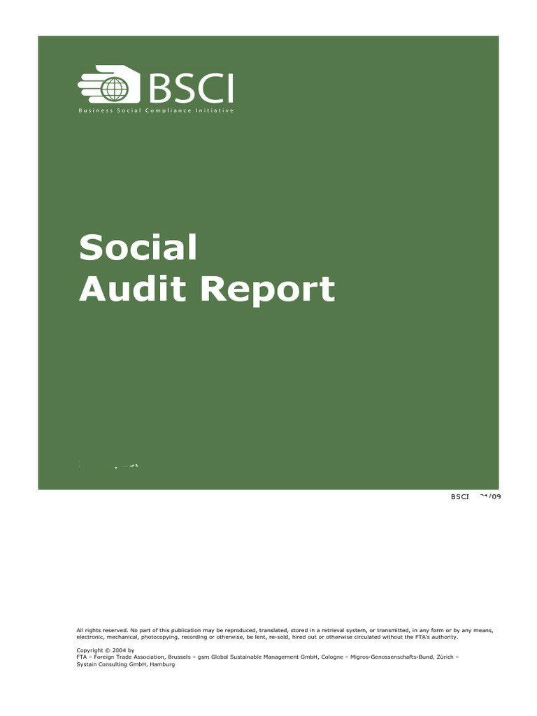 BSCI AUDIT REPORT - EDGE PRODCUTS LIMITED