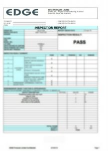 INSPECTION REPORT - EDGE PRODUCTS LIMITED P1
