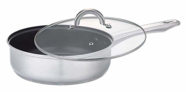 """11"""" 28cm Classic Stainless Steel Non Stick Frying Pan With Helper Handle"""