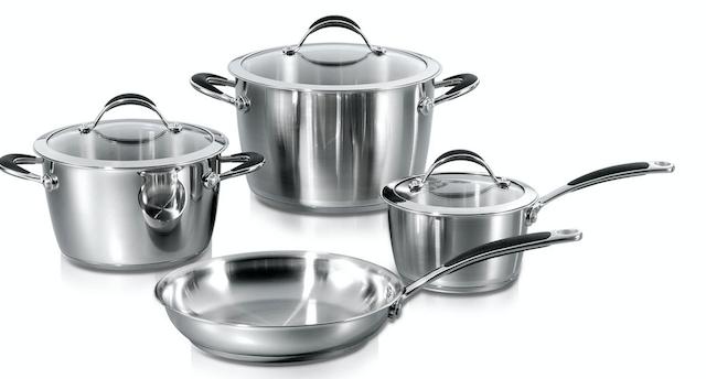 7pcs Prestige Stainless Steel Cookware Set - Cone Shape