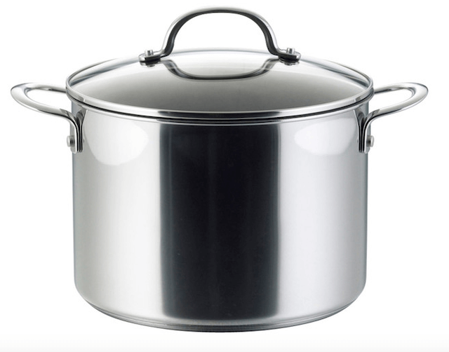 S/S Stockpot Straight Shape With Glass Lid & Capsule Bottom