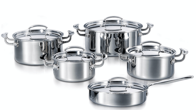 Deluxe Tri-ply 3-Clad Multi-Clad 10 Pieces Cookware Set