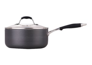 index 18cm 2.6L Hard Anodized Saucepan With Glass Lid