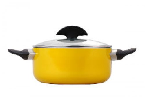 20cm Aluminum Pressed Non Stick Low Casserole With Lid