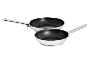index 2pcs Stainless Steel Non Stick Frypan Set - Hollow Handle