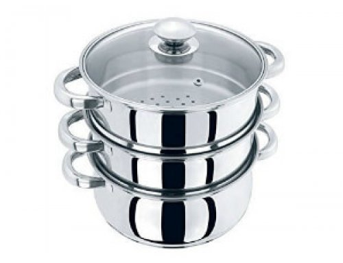 4pcs Stainless Steel Muti-Steamer Set 20cm