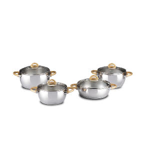 index 8pcs Apple Shaped Casserole Set - Stainless Steel Induction Ready