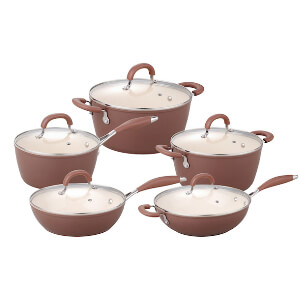 index Colorful Forged Aluminum Cookware Set in Ceramic Non Stick Coating