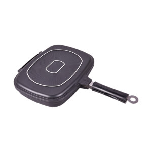index Die-Cast Aluminum Non-Stick Double Grill Pan