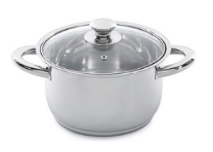 index Encapsulated Stainless Steel Casserole With Glass Lid & Hollow Handles