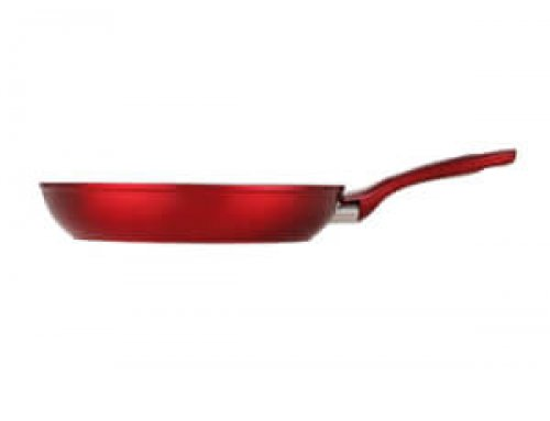 Forging Aluminum Open Frying Pan Induction Suitable – Metallic Red
