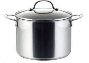 index S/S Stockpot Straight Shape With Glass Lid & Capsule Bottom