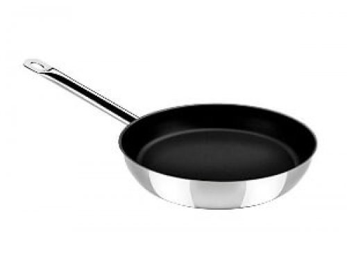 9.5″ Stainless Steel Non Stick Open Skillet With Metal Hollow Handle