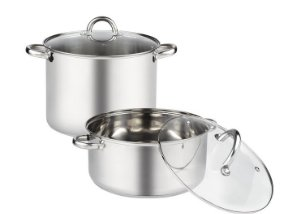 index Stainless Steel Stockpot and Casserole Straight Shape With Step and Rolled Edge
